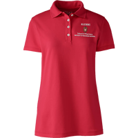 Image For Lands' End Outfitters WI Pharmacy Alumni Women's Polo (Red)