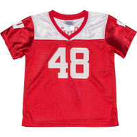 Image For BSC Toddler WI Football Jersey (Red/White) *