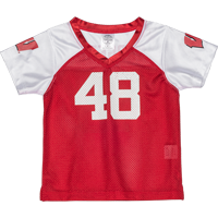 Image For BSC Toddler WI Football Jersey (White/Red) *
