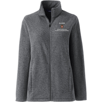Image For Lands' End Outfitters WI Pharmacy Alumni Wms Full Zip (Gray)