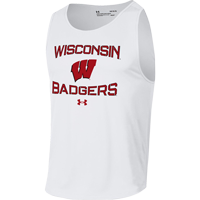 Image For Under Armour WI Badgers Tech Tank (White)