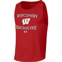 Image For Under Armour WI Badgers Tech Tank (Red)
