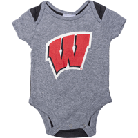 Image For BSC Infant Wisconsin Onesie (Black/Gray)