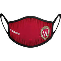 Cover Image For Strideline Wisconsin Face Mask (Red) (Preorder)