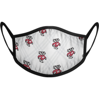 Cover Image For Strideline Bucky Badger Face Mask (White) (Preorder)
