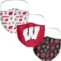 Cover Image For Fan WI Badgers 3-Pack Face Masks (Preorder)
