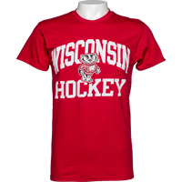 Image For Blue 84 Wisconsin Hockey T-Shirt (Red) 3X