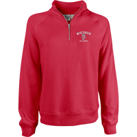 Image For Blue 84 Women's WI Alumni ¼ Zip Sweatshirt (Red)