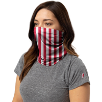 Cover Image For League Everyday Gaiter Striped (Red/White)