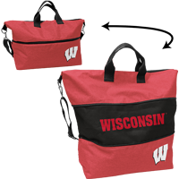Image For Logo Brands Wisconsin Expandable Tote (Red)