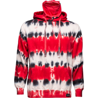 Cover Image For ALMAR Private Label WI Tye Dye Hooded Sweatshirt (R/B/W)