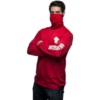 Cover Image For ALMAR Private Label WI Gaiter Long Sleeve Tee (Red)