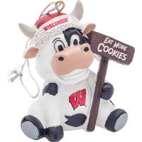 Image For Forever Collectibles WI Cow Ornament