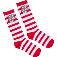 Image For TCK Comfort Bucky Badger Stripe Stocks (Red/White)