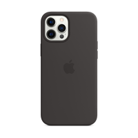 Image For Apple iPhone 12 Pro Max Silicone Case: Black