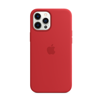 Image For Apple iPhone 12 Pro Max Silicone Case: Red